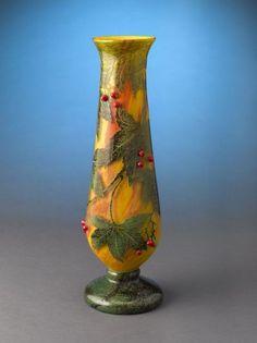 Daum Nancy Cameo Glass Vase |