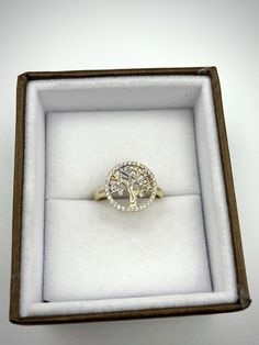 Bague ''arbre de vie'' en or 2 tons avec cubiques zirconiums Or, Heart Ring, Rings, Jewelry, Ring, Jewlery, Jewerly, Schmuck, Heart Rings