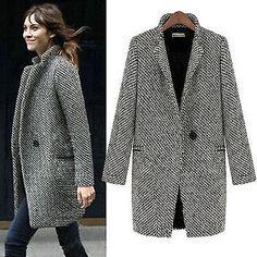Elegante Damen Oversize Wintermantel Winterjacke Lang Warm Mantel Jacke Coat in Kleidung & Accessoires, Damenmode, Jacken & Mäntel | eBay