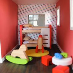 paint it yellow: From primitive to modern, a dollhouse makeover
