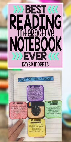 Kayse Morris Reading Interactive Notebook Grades 4-8 https://www.teacherspayteachers.com/Product/Reading-Interactive-Notebook-1318904