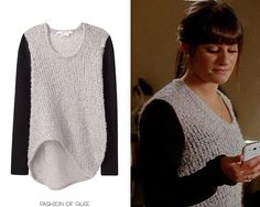 Helmut Lang Plaited Boucle Sweater - $203.00 (on sale!) Worn with: Dana Schneider necklace Glee Fashion, Dana Rebecca, Rachel Berry, Lea Michele, Movie Costumes, Fall Winter Outfits, Helmut Lang, Sweater Weather, My Wardrobe