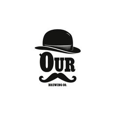 OurBrewingCompany.com - Downtown Holland - Logo - Craft Beer - Michigan Brewery - Typeography - Mustache