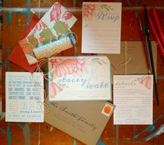 {invitation suite} hand painted + printed by the bride Invitation Suite, Invitations, Turkey Hill, Modern Flower Arrangements, Gourmet Gifts, Send Flowers, Exeter, The Dreamers, Hand Painted