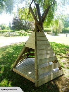Kids outdoor wooden Teepee Playhouse | Trade Me