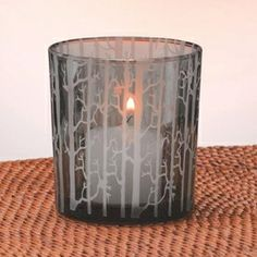 Etched Tree Scene Glass Votive Candle Holders, Set of 4 Glass Votive Candle Holders, Christmas Candle Holders, Candle Holder Set, Votive Candles, Candle Accessories, Living Spaces, Scene, Home Decor, Decoration Home