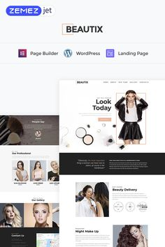 380 best wordpress themes images on pinterest in 2018 business beautix beauty elementor wordpress landing page template accmission Choice Image