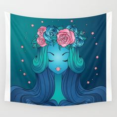Night Dream Wall Tapestry by Salome | Society6