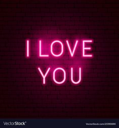 I love you neon sign vector image on VectorStock I Love You Signs, I Love You Images, Love You Gif, I Love You Baby, Wallpaper Iphone Neon, Flower Phone Wallpaper, City Wallpaper, Baby Pink Aesthetic, Neon Aesthetic