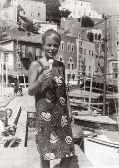"""<b>Marianne Ihlen</b> at the port of Hydra in 1962, two years after she met Leonard Cohen. """"So Long Marianne"""""""