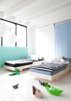 the boo and the boy: shared rooms Room For Two Kids, Cool Kids Rooms, Teen Bedding, Shared Rooms, Kids Room Design, Kids Decor, Home Decor, Kid Spaces, Kids House