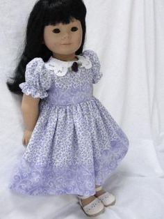 American Girl Doll Clothes  Lavender Floral by Heyjude01