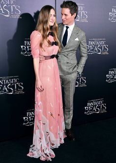 Eddie Redmayne and his wife❤ The way he looks at her...okay obsessing just a little bit - but if we're saying that then we might as well say I'm only slightly obsessed with Harry Potter
