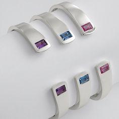 sterling birthstone cuff from RedEnvelope.com