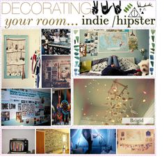 """Indie/Hipster Room Decorating! ▲"" by hipstertipsters ❤ liked on Polyvore"
