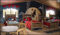 wild wild west cowboy theme bedroom decorating old western style