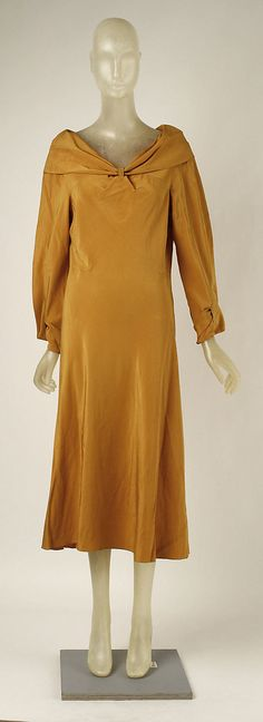 Afternoon dress, front view. Madeleine Vionnet. Date: 1931–32. Culture: French. Medium: silk. Metropolitan Museum of Art.