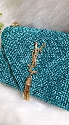 """New Cheap Bags. The location where building and construction meets style, beaded crochet is the act of using beads to decorate crocheted products. """"Crochet"""" is derived fro Crochet Clutch Bags, Crochet Handbags, Crochet Purses, Crochet Bags, Clutch Purse, Love Crochet, Bead Crochet, Crochet Designs, Crochet Patterns"""