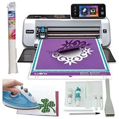 Brother ScanNCut 2 Die Cutting Machine Bundle with Fabric Applique Roll