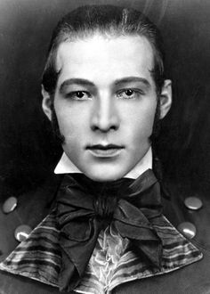 Rudolph Valentino in a portrait for Beyond the Rocks, 1922.