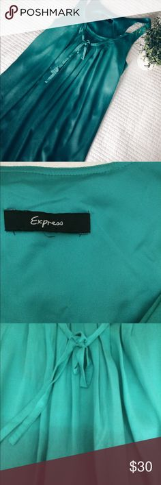 EXPRESS OMBRÉ DRESS Express Ombré Dress ***new without tags ***loose thread (please refer to 2nd photo) ***ends right above the knee (I'm 5'4) Express Dresses