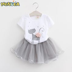 We are proud to roll out our fresh-off-the-drawing-board range of ){delights.   Like and Share if you like this 2017 Spring collection - Toddler Girl 2 Piece Dress.  Tag a mother who would appreciate our huge range of babywear! FREE Shipping Worldwide.  Why wait? Get it here ---> https://www.babywear.sg/menoea-2017-autumn-new-baby-girls-clothing-sets-fashion-style-cartoon-kitten-printed-t-shirtsnet-veil-dress-2pcs-girls-clothes/   Dress up your child in quality clothes today!    #Pajamas