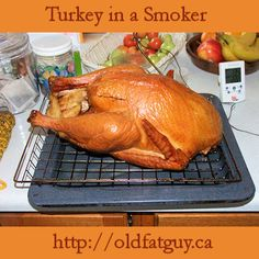 Read an article on cooking a turkey in a smoker! #turkey #turkeyrecipes #smokedturkey