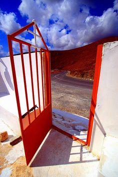 Red gate, Astypalea   Flickr - Photo Sharing!