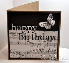 making birthday cards using a memory box die....
