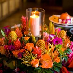 bright tropical flower arrangement - Google Search