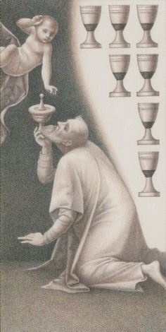 Seven of Cups - Leonardo Da Vinci Tatot by A. Atanassov, Iassen Ghiuselev