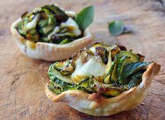 Cestini con zucchine ricetta finger food