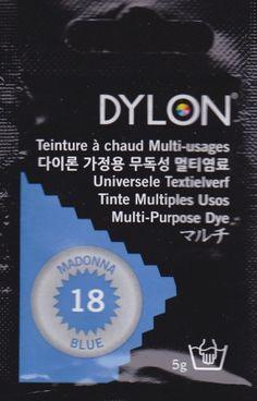 Teinture multi-usages Dylon BLEU MADONE N°18 (=capsule)