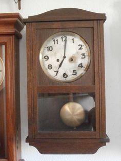 7a419740281b Antiguo Reloj Mecánico Manual A Llave De Pared Alemán Con Campanadas Año  1940 • 79.87€