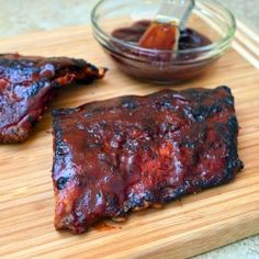 Barbecued Baby Back Ribs recipe- it is what is for dinner tonight!