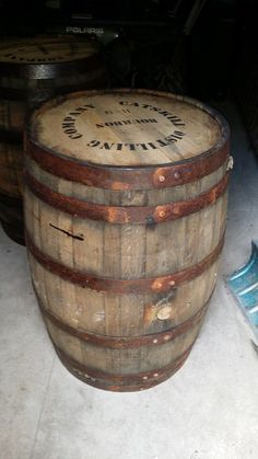 What is the formula to make something rust - I am going to cut this barrel in half and put on my wall. I want to add additional screws around the metal ring. How To Make Something, Furniture Fix, Barrel, Rust, Household, Projects To Try, Home And Garden, Tutorials, Tableware