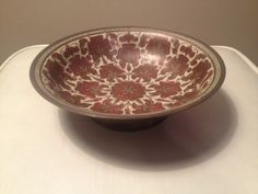 Mid Century Brass Floral Engraved Candy Dish Bowl by BlackwellArts, $23.00