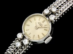 Girard Perregaux 【GP】アンティークジラールペルゴダイヤ入WG金無垢レディース 時計 Watch Antique ¥229000yen 〆07月14日