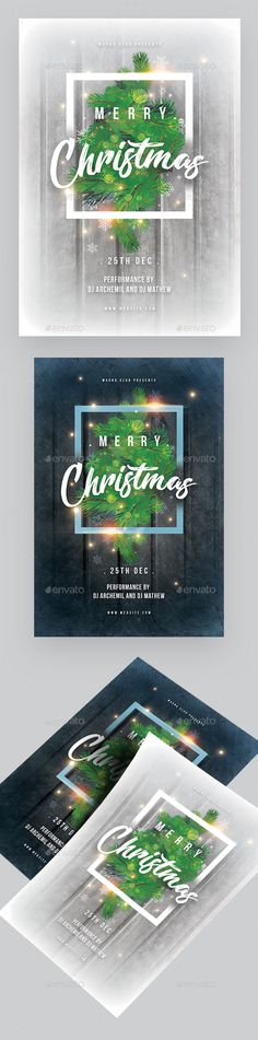 Christmas Event Flyer — Photoshop PSD #white christmas #Classic Christmas • Available here ➝ https://graphicriver.net/item/christmas-event-flyer/20939653?ref=pxcr