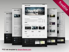 B Studio Web Design Free PSD Template