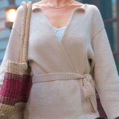 This knit wrap jacket is well-suited to beginning knitters and to knitters of all abilities who are looking for a great simple design. Free pattern.