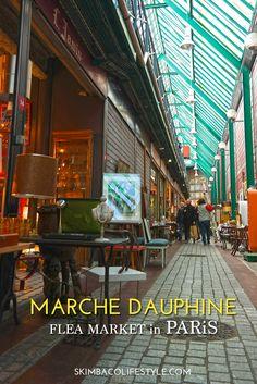 paris flea markets - Marche Dauphine, aka; Marche aux Puces de Saint-Ouen flea market in Paris