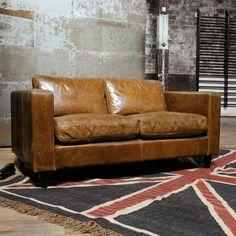 Sofá de cuero 3 4 plazas fijo Dandy