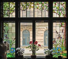 Art Nouveau (Jugendstil) museum, window - Riga, Latvia