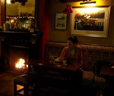 Enjoying a hot toddy at Pat Collins Bar in Adare, Co. Limerick.  Photo: James L. Root