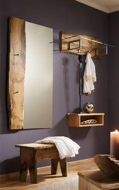 Garderobe Woodline   Aus massiver Eiche gefertigt, sind diese Flurmöbel…