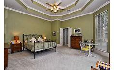 Painted vaulted ceiling