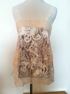 Lace/Floral/Crochet/Circle/Bead/Tank by AjasPlace on Etsy