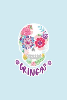 Design for Gringas. Gringas is a Mexican Fiesta inspired food truck soon to be operating out of Northland New Zealand. Run by two women, this logo was to be a floral sugar skull with a pop of colour. Using Cinco de Mayo and Día de Muertos for inspiration, I created a fun brand full of colour. Designed by Design by Cheyney
