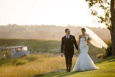 Inn at Longshore Wedding, Bride & Groom Portraits, Pronovias Lace Trumpet Gown